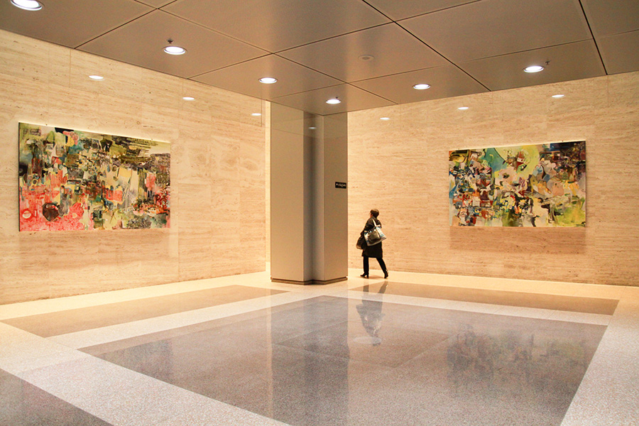 at 1, Place Ville-Marie installed paintings by Chrissy Cheung