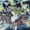 Composition no 51, acrylic on canvas, 36'' x 60''