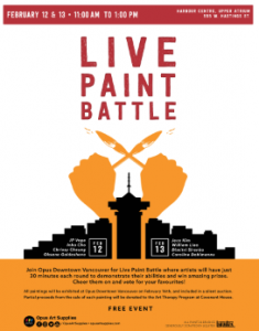 Live Paint Battle, Feb 2019 @ Harbour Centre, Vancouver