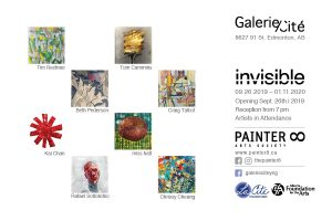 Invisible by PAINTER8 art exhibition card
